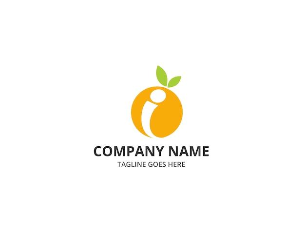 Frischer obst buchstabe i logo