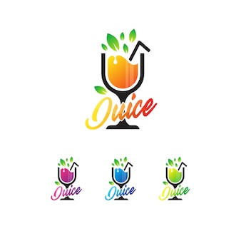 Frischer saft logo vorlage