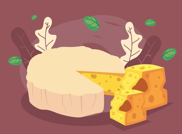 Frischer und cremiger käsebrie