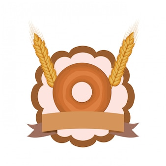 Frischer und köstlicher bäckereidonut