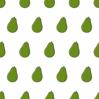 Frisches avocado-nahtloses muster. avocado-frucht-illustration