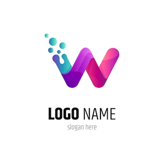 Frisches buchstaben-w-logo