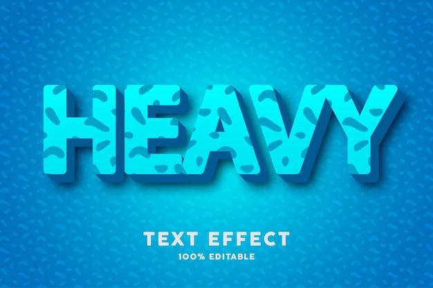 Frisches cyanblau 3d mit abstraktem musterart-texteffekt