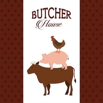 Frisches fleischdesign