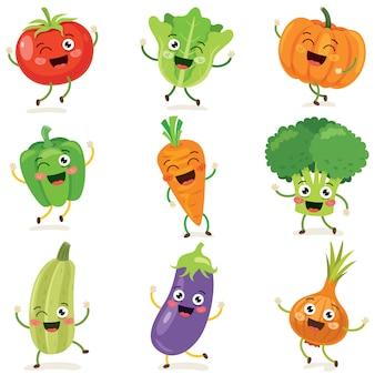 Frisches gemüse für eine gesunde ernährung