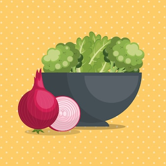 Frisches gemüse gesundes essen