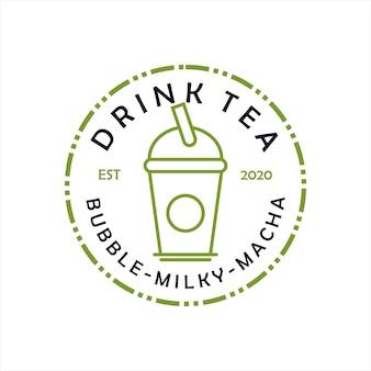 Frisches getränk bubble tea cup vector