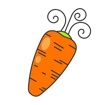 Frisches karotten-kreatives design für ihr projekt-vektor-logo