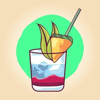 Frisches martini-cocktailgetränk isoliert