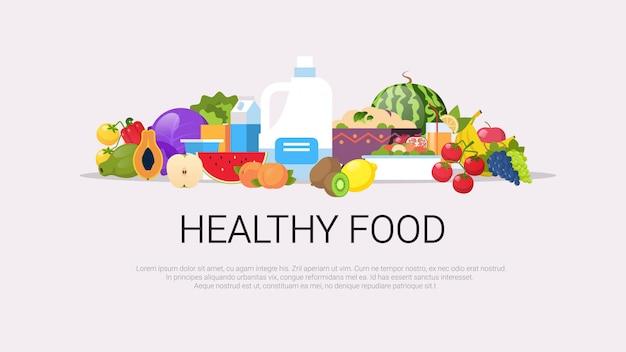 Frisches obst gemüse pflanzliche milch rohe bio-produkte zusammensetzung natürliches gesundes lebensmittelkonzept veganes protein horizontaler kopierraum