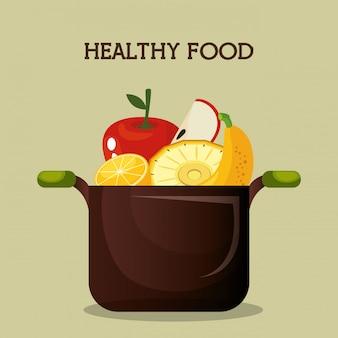 Frisches obst gesundes essen