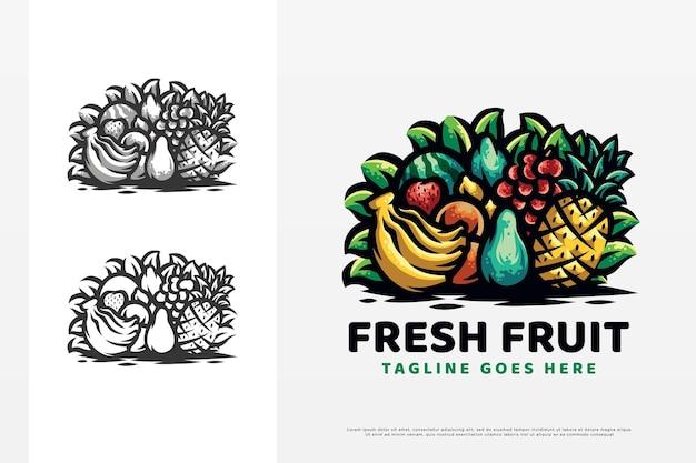 Frisches obst-logo-design