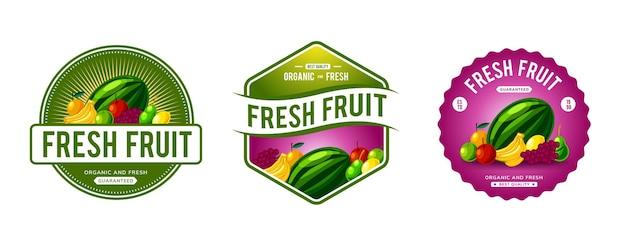 Frisches obst-logo-vorlagendesign