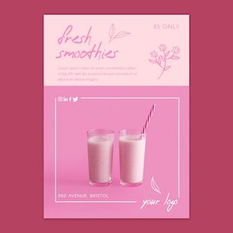 Frisches saft-smoothie-konzept