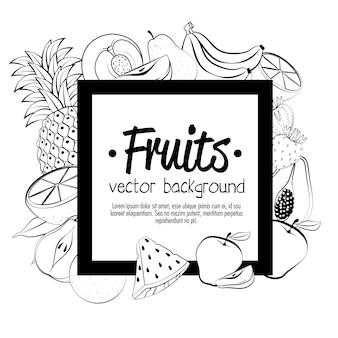 Frisches und gesundes Fruchtvektor-Illustrationsdesign