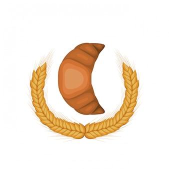 Frisches und leckeres brot croissant