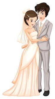 Frischverheiratetes paar