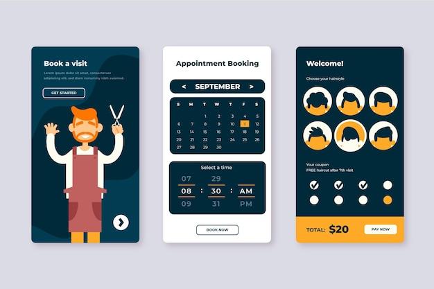 Friseur buchung online-app
