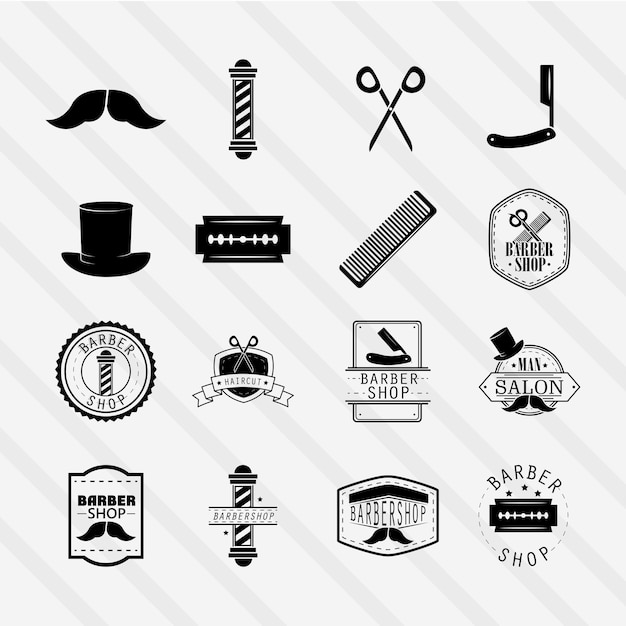 Friseur-ikonen eingestellt