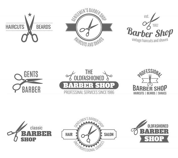 Friseur label schwarz