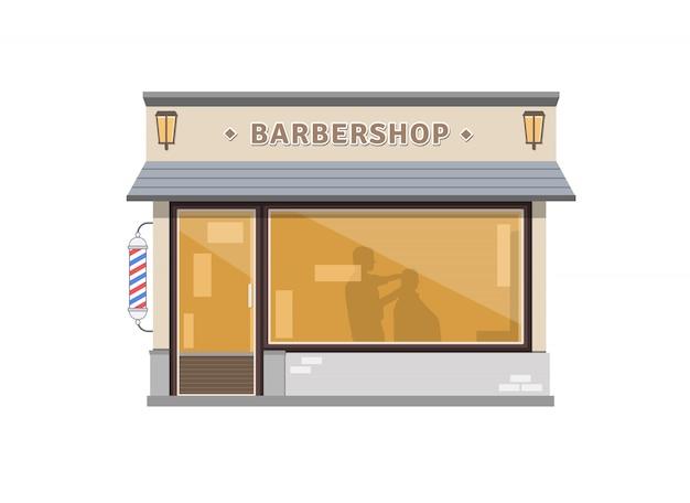 Friseursalon-gebäude-illustration