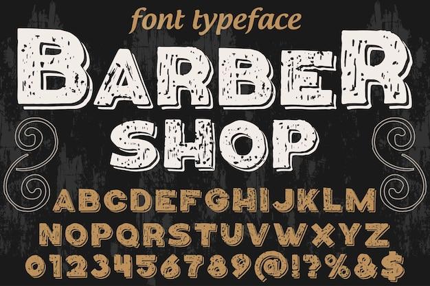 Friseursalon im grafischen stil der typografie