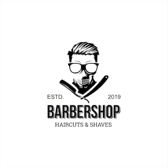Friseursalon logo spaß vintage
