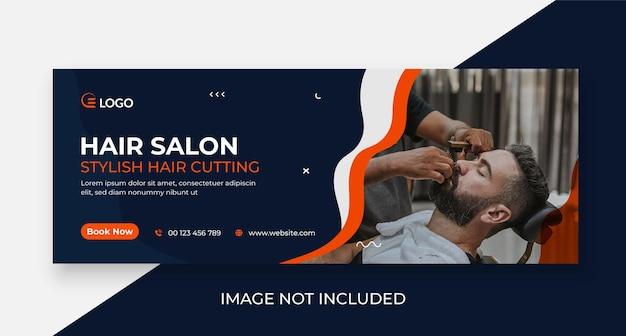 Friseursalon-werbe-social-media-cover und web-banner-vorlage
