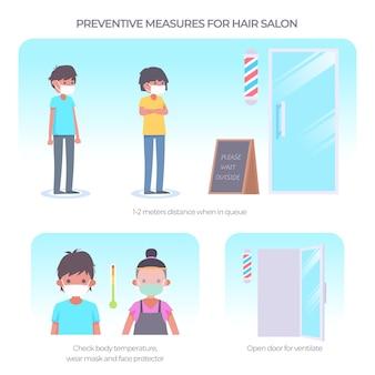 Friseursalons vorbeugende maßnahmen