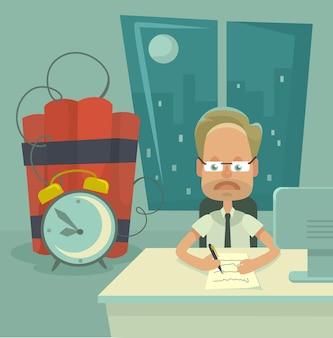 Frist. flache illustration