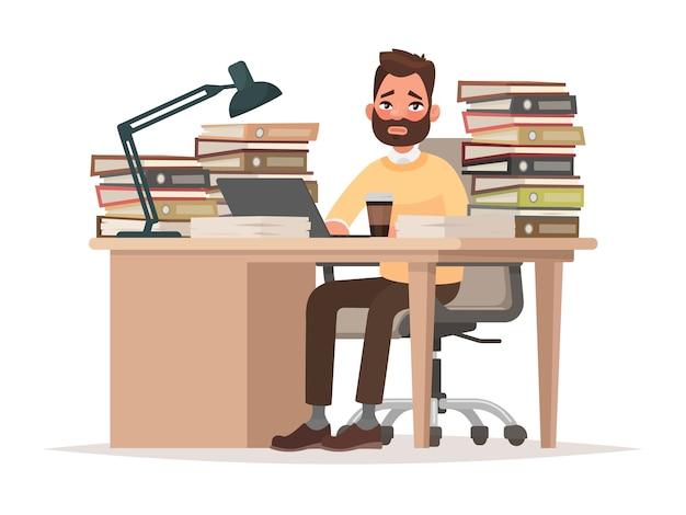 Fristen bei der arbeit illustration