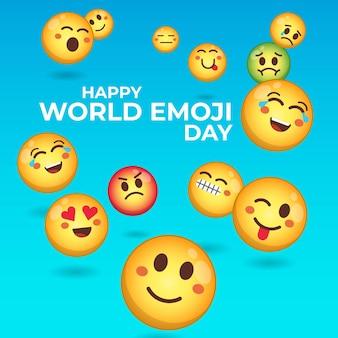 Fröhliche emoji-tagesfeier