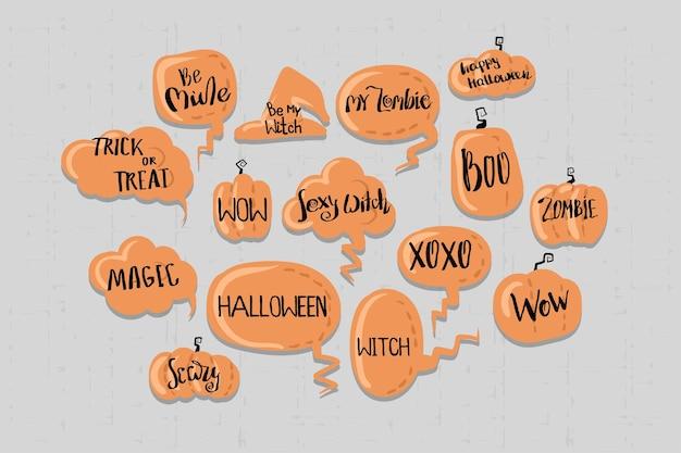 Fröhliche halloween-comic-sprechblase für text