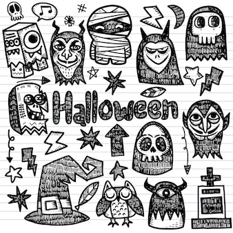 Fröhliche halloween-elemente