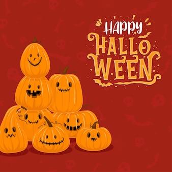 Fröhliche halloween-feier