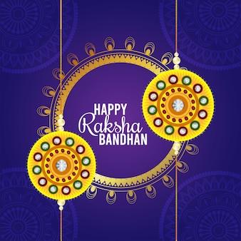 Fröhliche raksha bandhan feier grußkarte celebration