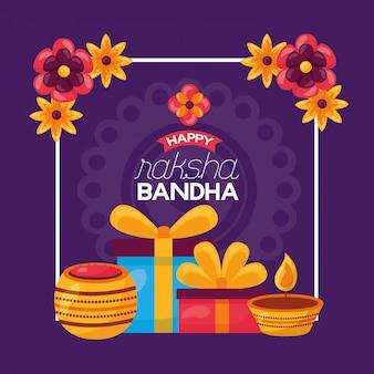 Fröhliche raksha bandhan feier