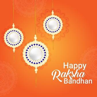 Fröhliche raksha-bandhan-feierkarte