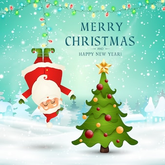 Fröhliche weihnachten. frohes neues jahr.