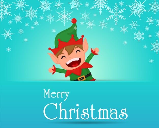 Fröhliche weihnachten. kinder spielen während der weihnachtszeit im schnee.