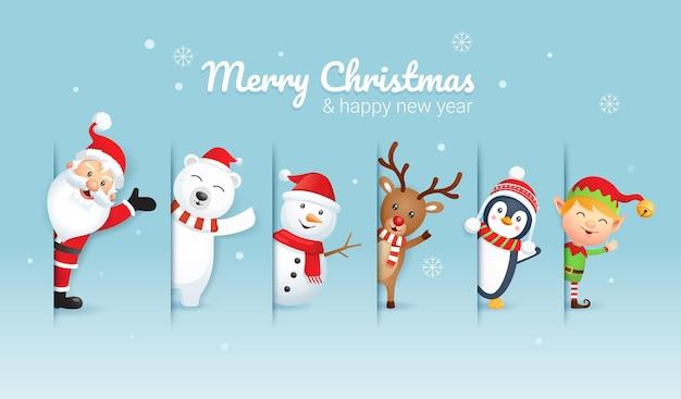Fröhliche weihnachten und frohes neues