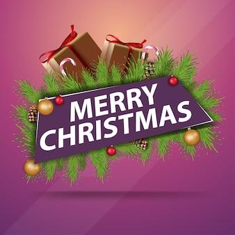 Fröhliche weihnachten. weihnachtsmoderne fahne