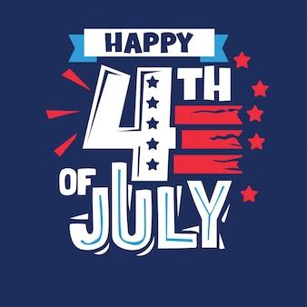 Fröhlichen 4. juli. unabhängigkeitstag usa für holiday design