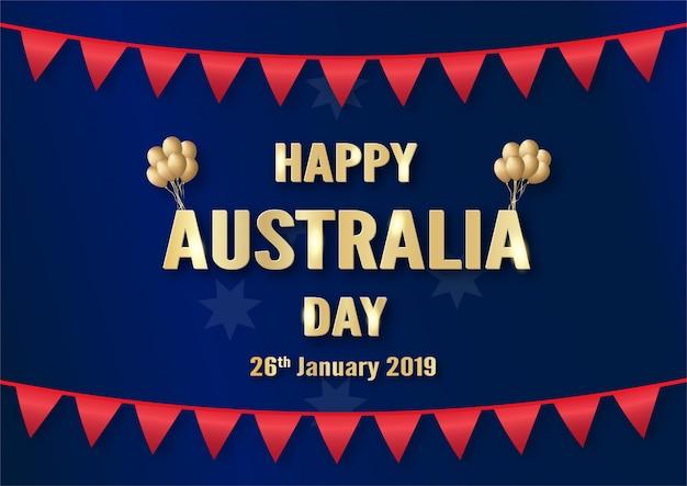 Fröhlicher australia day am 26. januar.