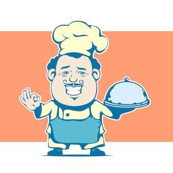 Fröhlicher comic-chef