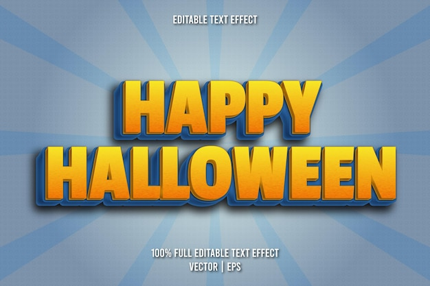 Fröhlicher halloween-bearbeitbarer texteffekt-comic-stil