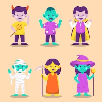 Fröhlicher halloween-monstercharakter für roman und geschichte