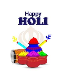 Fröhlicher holi hindu-indischer festivalfeierhintergrund