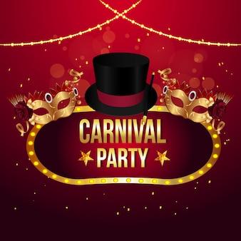 Fröhlicher karnevalspartyhintergrund