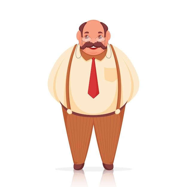 Fröhlicher mann charakter in stehender pose.